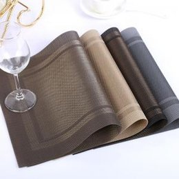 Mats & Pads Balleenshiny Pvc Stripe Placemat Tea Pans Dishes Individual Table Mats Coasters Waterproof Tablecloth Slip-resistant Pads Disc