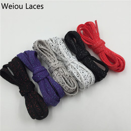 $enCountryForm.capitalKeyWord NZ - (30 pairs Lot) Weiou sports shoelaces splatter flat shoe laces custom white shoelace replacement boot laces speckled Wholesales