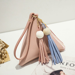 78eac7a61e Women Purse Pu Leather Tassel Beads Zipper Handbag Cone Shape Clutch Bag  Fa$3 Women Bag