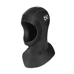 Keep Warm Diving Cap Water Proof Snorkeling Headgear Ear Cold Protection Divings Hat Nylon Material Black 39 2ss C1 on Sale