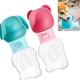 dog water feeder bottle Australia - Safety Portable Pet Dog Water Bottle 500ml For Large Dogs Travel Puppy Cat Drinking Bowl Anynet Cute Style Outdoor Pet Feeder Supplier