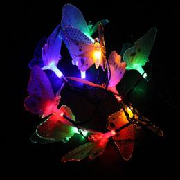 $enCountryForm.capitalKeyWord Australia - 1PCS 10LED Simulation Fiber-Optic Butterfly Solar Decorative Lamp Series Animal Modeling Lawn Christmas Lights