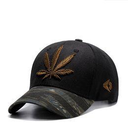 44035c127c0 Gold Leaf Cap Australia - New curved hip hop baseball cap fashion hemp leaf  men s cap