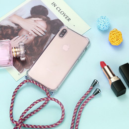Strap Cord Chain Phone Case for iPhone XS X 11 Tape Necklace Lanyard Mobile Carry Cover Case to Hang For iPhone Xs X S Cover