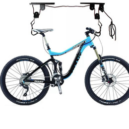 Wholesale Mountain Bicycle Hanging Roof Rack With A Safety Locking Wall Mount Bike Hanging Rack Accessories LJJZ188