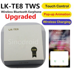 $enCountryForm.capitalKeyWord Canada - LK-TE8 TWS Bluetooth 5.0 Wireless Touch Mini Double Earbuds Wireless Headest With Charging Box Mic for iPhone Android Headphones 100pcs DHL