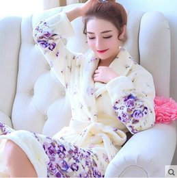 $enCountryForm.capitalKeyWord UK - Ladies And Men Long Bathrobe Women Flower Flannel Kimono Bath Robe Bridal Wedding Bridesmaid Robes Dressing Gown Peignoir Badjas