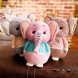 Small Stuffed toyS online shopping - New Pattern Stuffed Toy Elephant Lovely Dolls Fabric Art Software Small Pendant Plush Toys Kids Wedding Celebration Gift gs N1