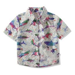 $enCountryForm.capitalKeyWord Australia - Summer Baby Clothes Boys Shirts Short Sleeve Floral Print Shirts Kids Tops Tees Fashion Blouse