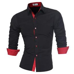 Linen Slim Shirts Australia - Men Shirt Brand 2019 Male High Quality Long Sleeve Shirts Casual Slim Fit Black Man Dress Shirts Plus Size M-4xl