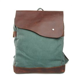 $enCountryForm.capitalKeyWord NZ - Dropship Europe Fashion Canvas School Backpacks Mens Vintage Travel Bags Canvas Leather Laptop Rucksacks Retro Cow Leather Bags