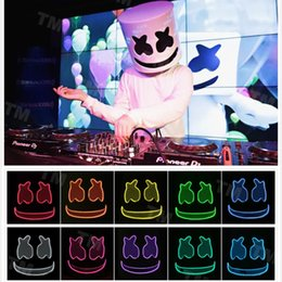 MarshMello DJ Mask Full Head Helmet Halloween Cosplay Mask Bar Music Props F&M Bar Masks from knuckle self defense manufacturers