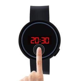 Chinese  2019 new men's sports clock simulation quart fashion men's and women's watches LED touch screen date silicone wrist black watch manufacturers