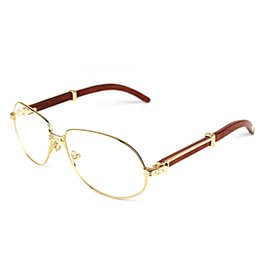 $enCountryForm.capitalKeyWord UK - Vintage Wooden Sunglasses Men Fashion Wood Eyewear Accessories Clear Glasses Metal Frame Women Shades Men for Club Party Beach