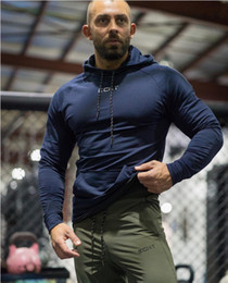 New Wardrobe Australia - 2019 gym New Sports and Leisure Trend Men's Sanitary Wardrobe Long Sleeve Cap Jacket Fitness gym Sweater