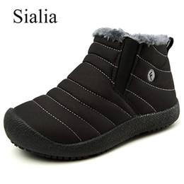 0d78b66a Compre Sialia Botas De Inverno Para Meninas Neve Sapatos Meninos Crianças  Botas Crianças Sapatos Botas De Pelúcia À Prova D 'Água Ankle Boots Sentiu  Quente ...