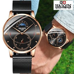 c8519a78270f HAIQIN Men s watches Quartz mens watch top brand luxury sport watch men  wristwatch waterproof Relogio Masculino colck