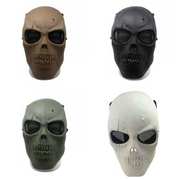 Army Airsoft pAintbAll mAsk online shopping - New Army Mesh Full Face Mask Skull Skeleton Airsoft Paintball Collection Movie Game Protect Safety Mask High Quality js