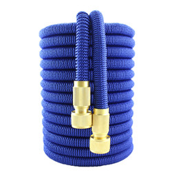 expandable hose latex Australia - Double Latex Garden Hose Expandable Flexible Hose Drip Irrigation High Pressure Car Wash Magic Watering Hoses Pipe Gardening Set