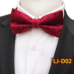 $enCountryForm.capitalKeyWord Australia - Men's Fashion Bow Tie Polyester Silk Bowties Male Pasiley Dot Grid Color Matching Neckwear Wedding Butterfly for Men