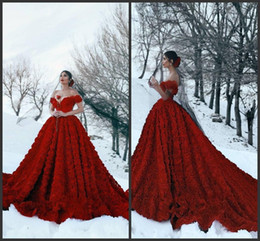 $enCountryForm.capitalKeyWord Australia - Gorgeous Red Evening Gowns Off Shoulder Formal prom dresses 2019 New Abendkleid Floral Pattern Backless Special Occasion Gowns Plus Size