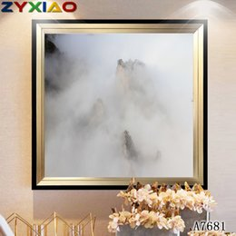 Oil Ink NZ - ZYXIAO Large Size Oil Painting Pop Art Ink wash mountain cloud fog Home Decor on Canvas Modern Wall Art No Frame Print Poster picture A7681