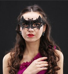 Sexy Masks For Ladies NZ - Lace Halloween Masks Half Face Lovely Party Venetian Masquerade Decorations Lily Woman Lady Sexy Mardi Gras Masks For Christmas Gift Disco