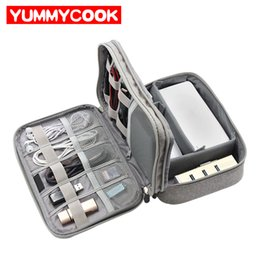 Mobiles Gadgets Australia - Travel Electronics Organizer Cable Bag Digital Gadget Pouch Trip Charger Wires Headphones Storage Case Drive Mobile Accessories
