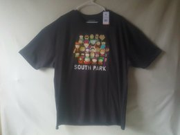 South Park Shirts Australia - South Park Group Shot Black T-Shirt Tee TV Show Character Rare Authentic NWT High Quality Custom Printed Summer Straight 100% Cotton