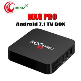 android set top box quad NZ - MXQ Pro 4K Android 7.1 TV Box Rockchip RK3229 Quad Core 1GB 8GB Smart Streaming Media Player support 3D IPTV HDMI Set Top Box