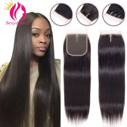 $enCountryForm.capitalKeyWord NZ - 100% Human Hair Closure Brazilian Hair Lace Closure 8-20inch Straight Closure Natural Color With Bleached Knots