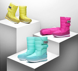 lady snow boots mid calf Australia - Women boots winter warm plush mid-calf boots women shoes 2019 waterproof winter shoes woman snow boots women solid ladies shoes