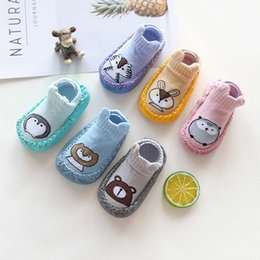 cute slippers for kids Australia - Kid Girls Boys First Walkers Soft Infant Toddler Shoes Cartoon Animal Cute Anti-Slip Socks Slipper Shoes Boots Footwear For Baby