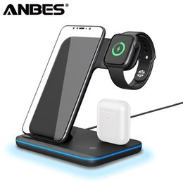 samsung phone wireless charging NZ - 3 In 1 Qi Wireless Charger 2 3 4 Airpods Fast Charging For iPhone XS Max XR X 8 Samsung S9 S8 Phone Charger