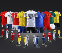 yellow green soccer kits NZ - Custom ballsuits jersey best-equipped Custom uniforms adult children's soccer suit kit personalized printed jerseys soccer practice team