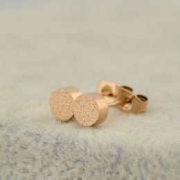 tiny gold studs Australia - Minimalist Matte Tiny Round Earrings For Women Men Jewelry Stainless Steel Rose Gold Filled Geometric Circle Small Stud Earrings