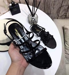 $enCountryForm.capitalKeyWord Australia - Brand new Sexy shoes Woman Summer Buckle Strap bamboo joint Sandals ysl Flat shoes Pointed toe Fashion Shoes In Stock