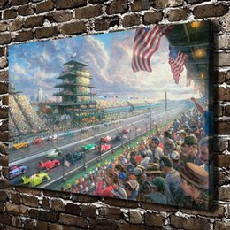 painting racing Australia - Indy 100 Years of Racing,Home Decor HD Printed Modern Art Painting on Canvas (Unframed Framed)