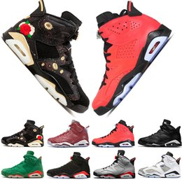 Table Cat Box Australia - In Stock 2019 Bred 6 6s Mens Basketball Shoes Infrared 23 3M Reflective Bugs Bunny Tinker Black Cat UNC Men Sport Sneakers Designer Trainers