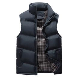 $enCountryForm.capitalKeyWord Australia - 2019 Plus Size Mens Work Vests Men's Winter Outdoors Vest Cotton-Padded Thicken Waistcoat Warm Sleeveless Motorcycle Jacket 1113