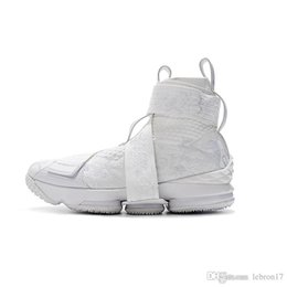 $enCountryForm.capitalKeyWord Australia - Cheap Kith X lebron 15 high tops basketball shoes lifestyle triple white boys girls youth kids outdoor sneakers with box size 7 12