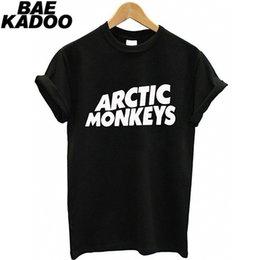 Venta al por mayor de BAEKADOO Hipster Girl Punk Black Top ARCTIC MONKEYS Camiseta de manga corta con estampado divertido # 411111