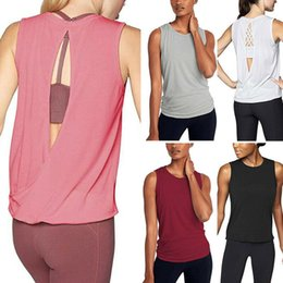 Damen-Frauen Lange Racer Zurück Bodycon Muscle Vest Tops Gym Top S-XL Backless