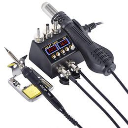 JCD 2 в 1 750W фена ЖК-цифровой дисплей сварочного паяльной станции для сотового телефона BGA SMD PCB IC Ремонт припой железа hairdry на Распродаже