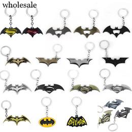 $enCountryForm.capitalKeyWord UK - 20Pcs Lot Fashion Avenger Union keychains bat logo Superhero Charm pendant Car Keyring For Women & Men Jewelry Wholesale