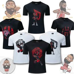 $enCountryForm.capitalKeyWord NZ - Basketball T-shirt Robillard Harden Fans Loose Training Suit Cartoon Quick Dry T-shirt Suit Male Basketball Short Sleeve