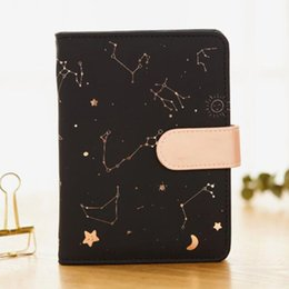kawaii stationery notebook UK - Notebook Kawaii Constellations Pu Cover Schedule Book 2020 Diary Weekly Planner Notebook School Office Supplies Stationery