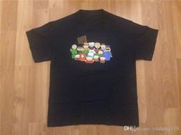 Топы Тис 2018 Летняя мода Новые короткие South Park с круглым вырезом мужские футболки с коротким рукавом на Распродаже