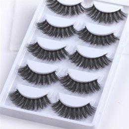 $enCountryForm.capitalKeyWord Australia - 5Pairs Set Thick Mink Handmade 3D Cross Eyelash Hair False Eyelashes Eye Lashes Cruelty-free Lashes Makeup Extension Tools
