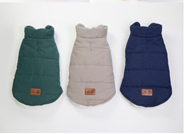 Discount large feet - Autumn Winter Pet Dog Clothes Warm Dog Cotton Coat Puppy Teddy Two Feet Vest Fashion Pet Jacket